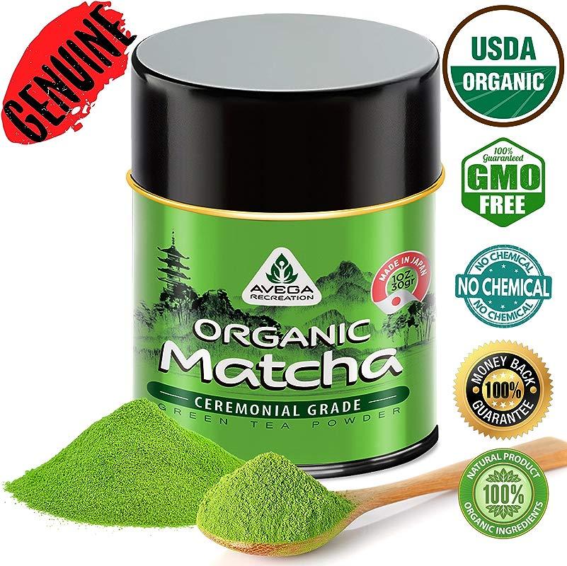 Matcha Green Tea Powder USDA Organic Japanese Ceremonial Grade Best Antioxidant 100 Pure 30g 1oz Original Powerful Energy Booster Distinctly Top Superfood Uji Imported Great Hot N Cold Brew