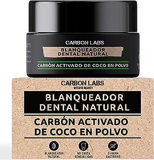 Blanqueador Dental de Carbon Activado de Coco en Polvo -100% Natural - Con Aceite Esencial de Coco, Naranja y Menta - No C...