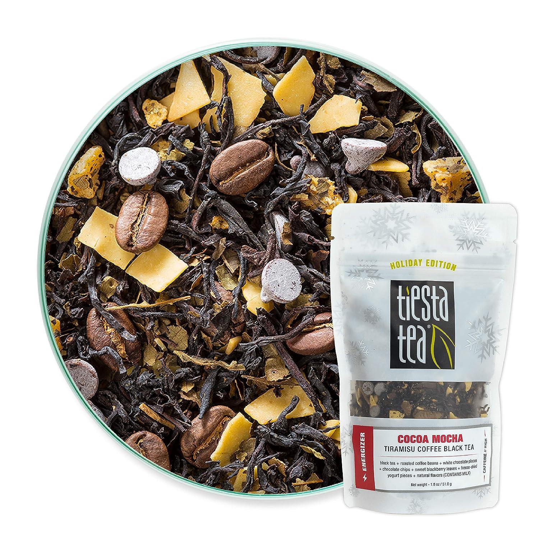 Tiesta Tea - Cocoa Mocha, Loose Leaf Tiramisu Coffee Black Tea, High Caffeine, Hot & Iced Tea, 1.8 oz Pouch - 25 Cups, Natural Flavored, Black Tea Loose Leaf Blend