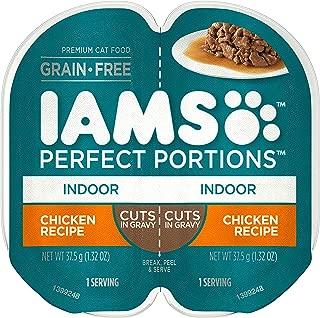 IAMS Perfect Portions Indoor Grain Free Wet Cat Food, Cuts in Gravy (24 Twin Packs)