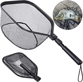 PLUSINNO Fly Fishing Net, Bass Trout Landing Net, Folding...