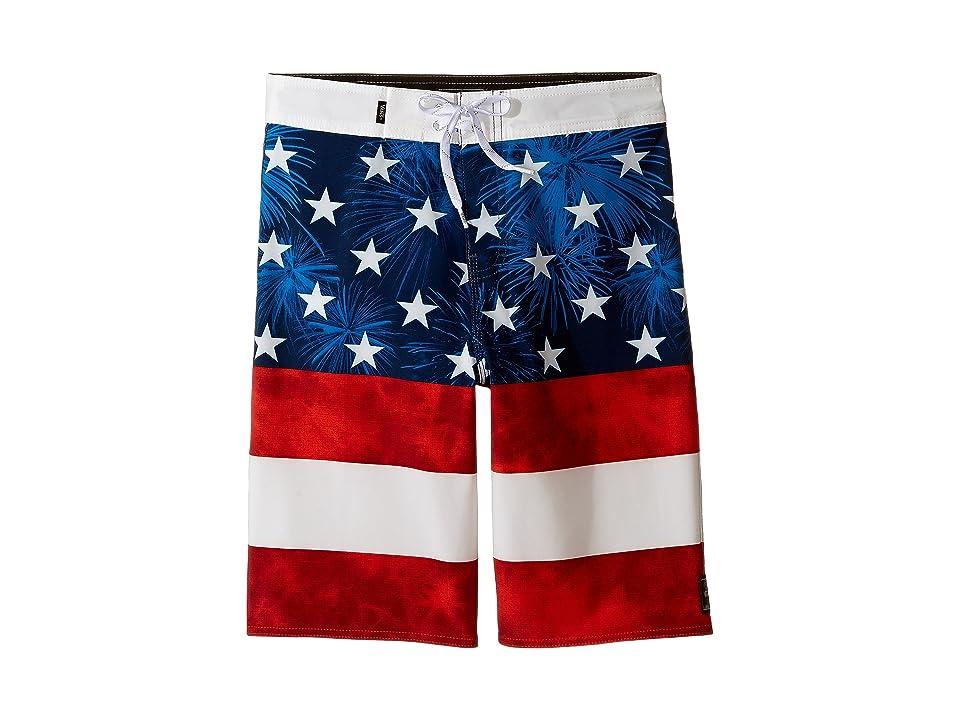Vans Kids Era Stretch Boardshorts (Little Kids/Big Kids) (American Flag) Boy