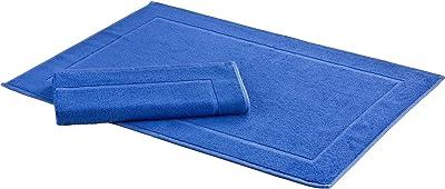Floringo Lot de 2 tapis de bain Sprint, tapis de bain, tapis de bain, tapis de douche, environ 50x70 cm, mélange de coton (royal)