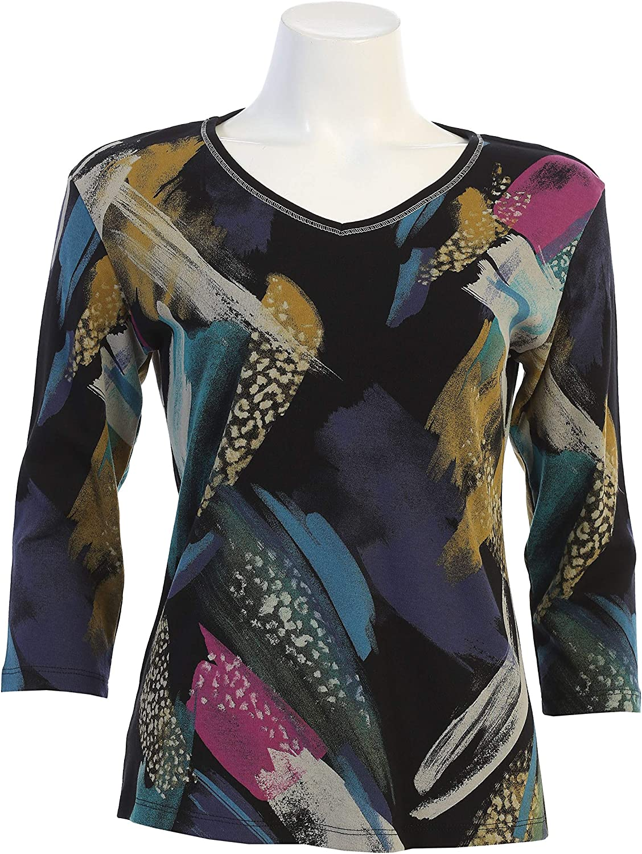 Jess /& Jane Womens Savannah Cotton Tee Shirt Top
