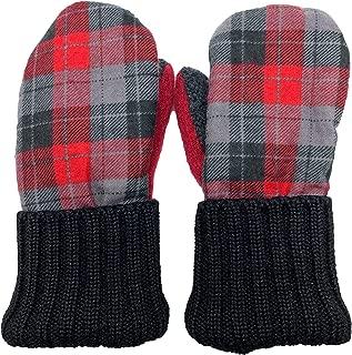 Handmade Children's Flannel Fleece Wool Mittens Winter Kid's Gloves Made in USA