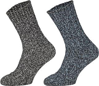 4 Pares Calcetines Noruegos Invierno Lana Unisex