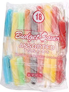 Budget Saver, Assorted Twin Pops, 18 Count (Frozen)