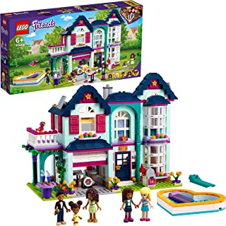 LEGO 41449 Friends Andrea's Family House Playset, Doll House with Swimming Pool and Music Studio