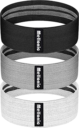 MELLONIC INC Resistance Bands Set of 3 for Legs and Butt Workout Fabric Band Gym Exercise Equipment Fitness Yoga Spor...