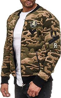 Redbridge Men's Jacket Camouflage College Parka Windbreaker Sweater Bomber Long Coats
