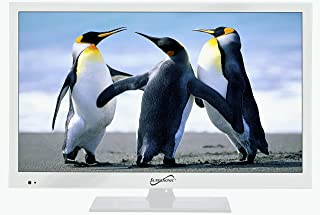 """Supersonic SC-1511 White 15.6"""" 1080p LED Widescreen HDTV with HDMI & USB Input"""