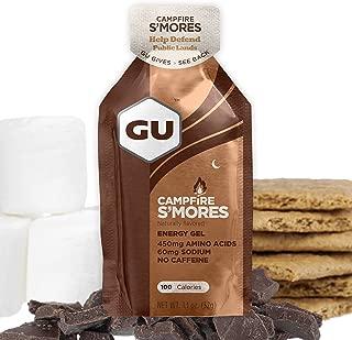 GU Energy Original Sports Nutrition Energy Gel, Campfire Smores, 24 Count Box