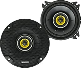 KICKER CS Series CSC4 4 Inch Car Audio Speaker with Woofers, Yellow (2 Pack) photo