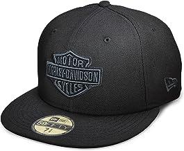 Harley-Davidson Men's Tonal Bar & Shield Logo 59Fifty Cap, Black