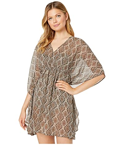 Tommy Bahama Desert Python Tunic Cover-Up (Caffe) Women