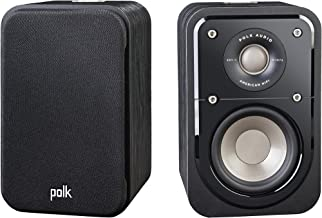 Polk Audio Signature Series S10 Bookshelf Speakers for Home Theater, Surround Sound and Premium Music | Powerport Technology | Detachable Magnetic Grille (Pair)