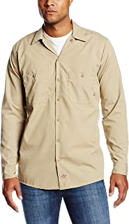 Dickies Occupational Workwear LL535DS Polyester/Cotton Men's Long Sleeve Industrial Work Shirt, Desert Sand