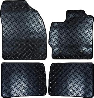 RHINO AUTO Rhino Automotive/© Luxury Full Set Seat Cover Set Black /& Grey Piping RW1946