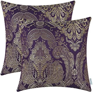 CaliTime Pack of 2 Supersoft Throw Pillow Covers Cases for Couch Sofa Home Decor Vintage..