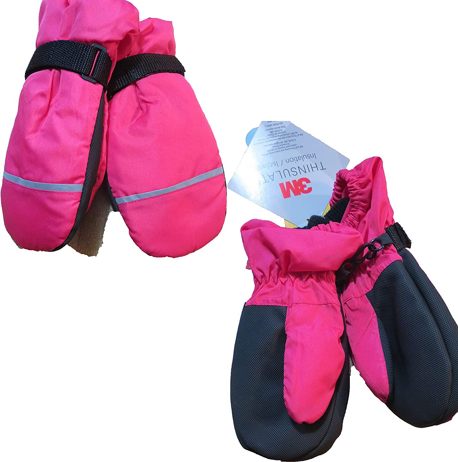 Cat & Jack Pink Winter Mittens 3M thinsulate water resistant 2T-5T