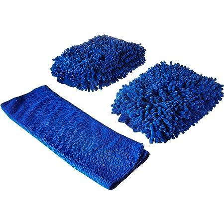 Lifreer Car Wash Mitts 6PCS Microfiber Wash Gloves Car Cleaning Microfiber Mitt with 2PCS Microfiber Towels for Washing Vehicles