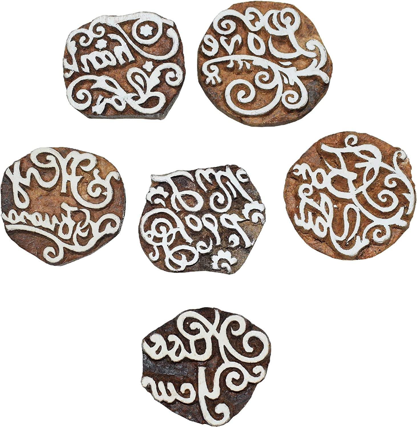 All items in the store Large-scale sale Hashcart Motif for Printing Blocks Fabric Stamps 6 Set of