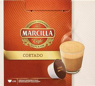 comprar comparacion MARCILLA Cortado - cápsulas compatibles con las cafeteras Nescafé(R)* Dolce Gusto(R)*   3 paquetes de 14 cápsulas - Total ...