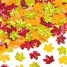 Fall Party Table Scatter Confetti - Thanksgiving Day Maple Leaves Foil Metallic Sequins Confetti Autumn Party Sprinkles Co...