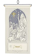Heritage Lace Away in A Manger w/Rejoice Wall Hanging, Ecru