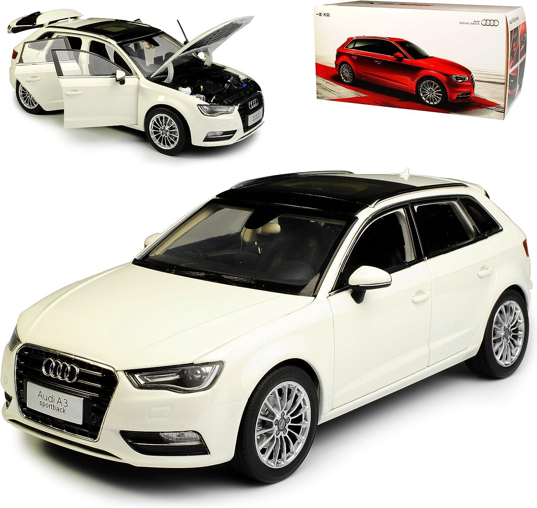 Paudi Audi A3 8V Sportback Weiss 3. Generation Ab 2012 1 18 Modell Auto mit individiuellem Wunschkennzeichen