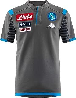 Ssc Napoli Italian Serie A Men's Representation Polo, Grey, L