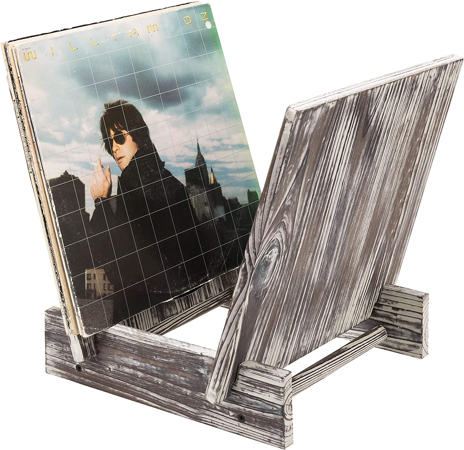 MyGift Rustic Max 40% OFF Torched Wood Year-end gift Vinyl Record Media Display Stand