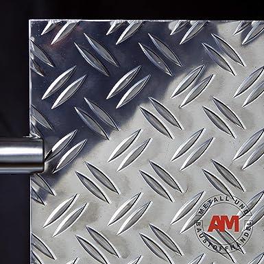 10 x 10 cm Tr/änenblech Warzenblech Zuschnitt aus Alu Blech geriffelt walzblank natur Zuschnitt nach Ma/ß Gr/ö/ße 100 x 100 mm bestell-dein-Blech Metall Aluminium Riffelblech duett 2,5//4,0 mm stark