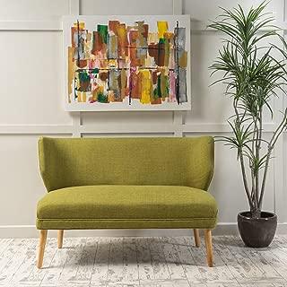 Christopher Knight Home Dumont Mid Century Modern Fabric Loveseat Sofa Settee (Green)