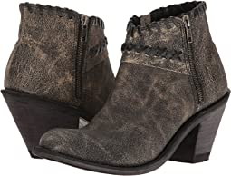 Old West Boots Crisscross Stitch Ankle Boot