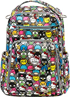 JuJuBe Be Right Back Multi-Functional Structured Backpack/Diaper Bag, Hello Kitty Collection - Hello Friends