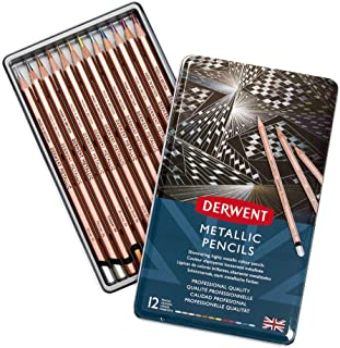 Derwent Metallic Pencil TIN Multi CLRS, One Size,DE2305599