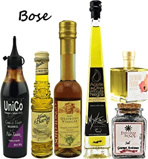 Chef Ole Bose collection.Truffle & Xtra Virgin Olive Oil, Aged Vinegars & Citric salt. Luxury Gourmet Collection.Pack of 6. Great Gift Set.Time to get real with your cooking. A superb addition