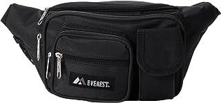 Everest - Riñonera con múltiples bolsillos, Negro, Una talla