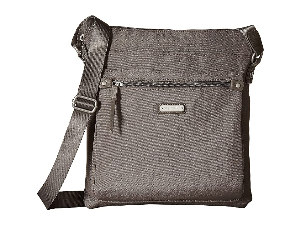 Baggallini New Classic Go Bagg with RFID Phone Wristlet (Sterling Shimmer) Bags