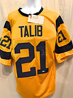 Aqib Talib Los Angeles Rams Signed Autograph Yellow Jersey JSA Witnessed Certified
