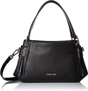 Calvin Klein Melanie Pebble Leather Slouchy Zip Face Satchel