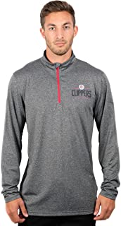 Ultra Game NBA Men's Quarter-Zip Pullover Active Shirt
