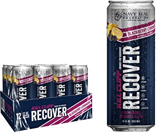 KILL CLIFF Recovery Drink, Blackberry Lemonade, 12 Oz Cans, 12 Count - Clean Hydration, Low Cal, Electrolytes, B-Vitamins