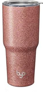 BUILT 5237748 Vacuum Insulated Tumbler Double Wall, 30-Ounce, Rose Gold Glitter