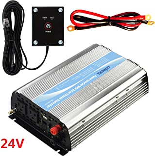 Giandel 1200Watt Power Inverter 24V DC to 110V 120VAC with Solar Charge Controller and Remote and