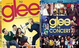 Musical Television Show Glee Blu-ray Bundle - Glee Season One (Target Exclusive with Bonus DVD) & Glee: The Concert (Blu-ray/DVD/Digital Copy) 6-Disc Set