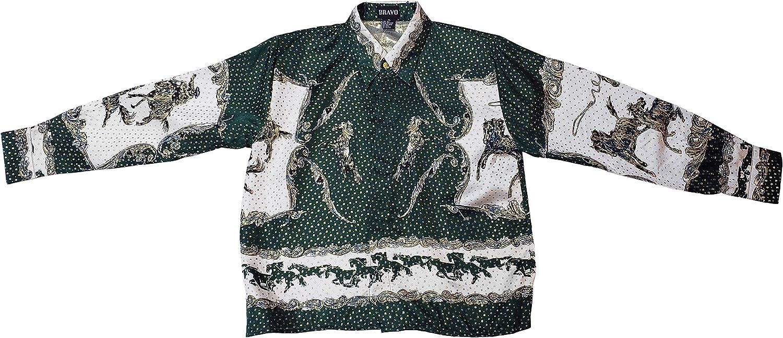 Bravo! Kid's Silk Shirt Horses Design