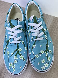 ddd3b97ed5 Vincent Van Gogh Blossoming Almond Tree Hand Painted Vans Authentic Custom  Vans Sneakers FREE SHPPING