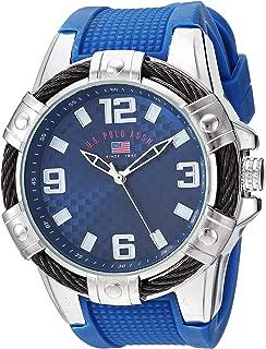 Men's Quartz Watch with Rubber Strap, Blue, 23 (Model:...